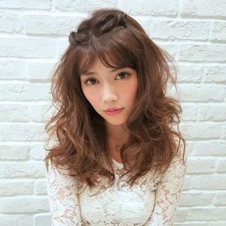セミロング 大人かわいい 簡単ヘアアレンジ ヘアアレンジ ヘアスタイルや髪型の写真・画像