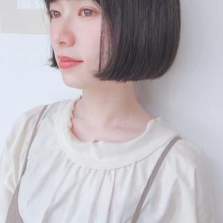 アッシュベージュ ナチュラル グレージュ ショートヘア ヘアスタイルや髪型の写真・画像