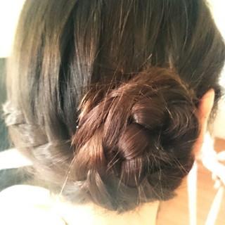 簡単ヘアアレンジ ウォーターフォール ガーリー ロング ヘアスタイルや髪型の写真・画像
