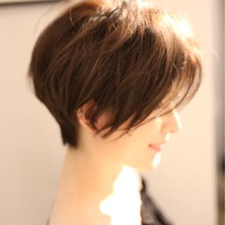 ナチュラル 大人かわいい ショート 色気 ヘアスタイルや髪型の写真・画像