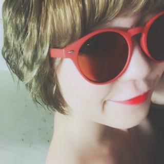 モード アンニュイ ショートボブ ハイトーン ヘアスタイルや髪型の写真・画像