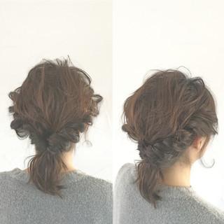パーティ モテ髪 簡単ヘアアレンジ 波ウェーブ ヘアスタイルや髪型の写真・画像