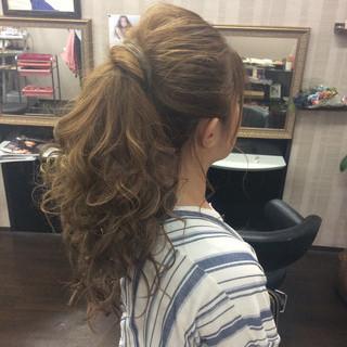 結婚式 簡単ヘアアレンジ ヘアアレンジ ロング ヘアスタイルや髪型の写真・画像