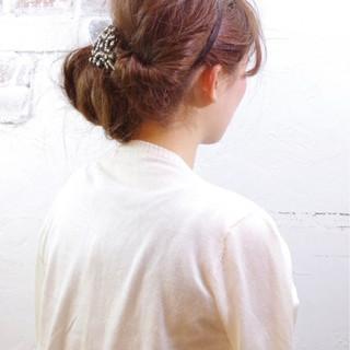 夏 ヘアアレンジ ロング フェミニン ヘアスタイルや髪型の写真・画像