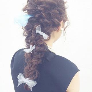 ヘアアレンジ ロング パーティ アッシュ ヘアスタイルや髪型の写真・画像