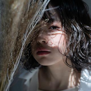 ボブ フェミニン ゆるふわ パーマ ヘアスタイルや髪型の写真・画像