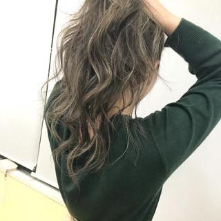 デート アンニュイほつれヘア ナチュラル ロング ヘアスタイルや髪型の写真・画像