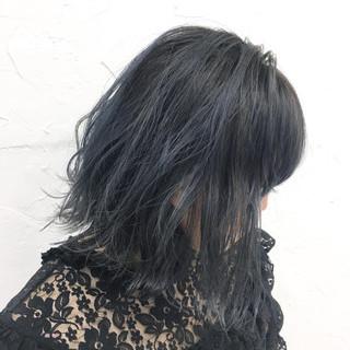ブルー 秋 アッシュ ブルーアッシュ ヘアスタイルや髪型の写真・画像