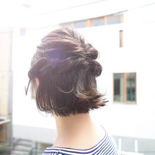 【ボブ向け】浴衣に合わせる髪型はハーフアップアレンジ♪