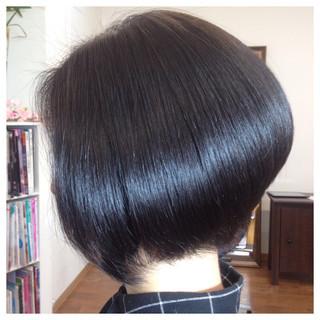 暗髪 大人かわいい ボブ グラデーションカラー ヘアスタイルや髪型の写真・画像 ヘアスタイルや髪型の写真・画像