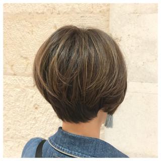モテ髪 透け感ヘア ハイライト ナチュラル ヘアスタイルや髪型の写真・画像