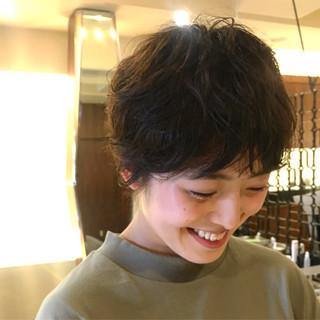 ショート ウルフ ヘアアレンジ 黒髪 ヘアスタイルや髪型の写真・画像