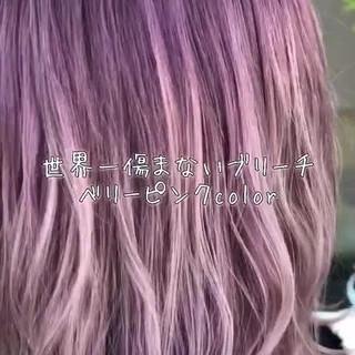 フェミニン ミディアム 外国人風カラー 外国人風フェミニン ヘアスタイルや髪型の写真・画像