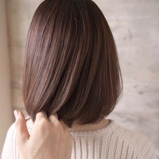 可愛い ナチュラル ボブ 艶髪 ヘアスタイルや髪型の写真・画像