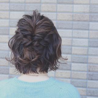 ゆるふわ ショート 外国人風 ボブ ヘアスタイルや髪型の写真・画像