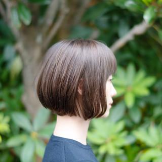 切りっぱなしボブ ショートボブ ミニボブ ボブ ヘアスタイルや髪型の写真・画像