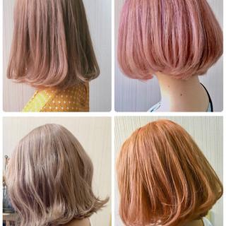ゆるふわ 簡単ヘアアレンジ ミルクティーグレージュ ミディアム ヘアスタイルや髪型の写真・画像