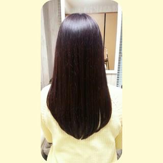 ナチュラル 暗髪 ストレート ロング ヘアスタイルや髪型の写真・画像