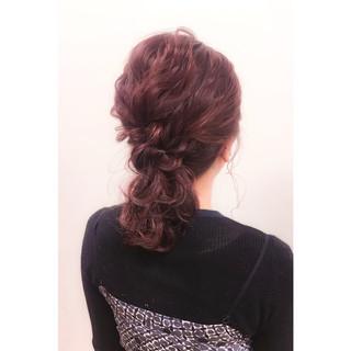 簡単ヘアアレンジ ミディアム 大人女子 ハーフアップ ヘアスタイルや髪型の写真・画像
