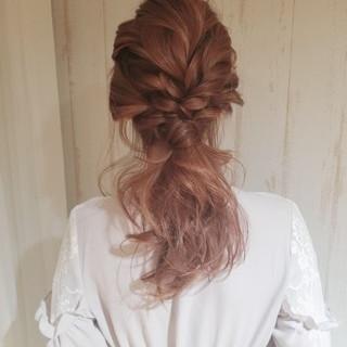ヘアアレンジ ナチュラル 結婚式 デート ヘアスタイルや髪型の写真・画像