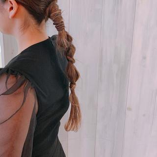 ロング ローポニーテール ヘアアレンジ ポニーテールアレンジ ヘアスタイルや髪型の写真・画像