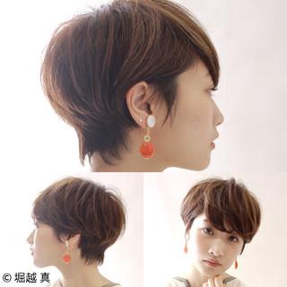 大人女子 ショートボブ ナチュラル 大人かわいい ヘアスタイルや髪型の写真・画像
