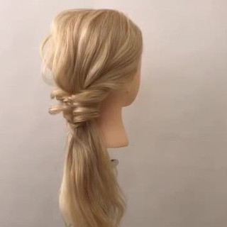 結婚式 ヘアアレンジ 上品 簡単ヘアアレンジ ヘアスタイルや髪型の写真・画像