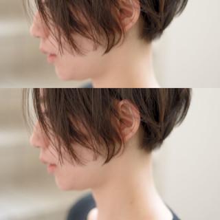 ショートボブ 黒髪 ナチュラル ショート ヘアスタイルや髪型の写真・画像