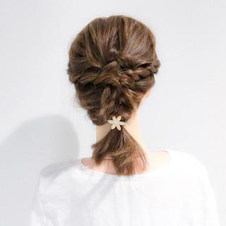デート オフィス ボブ ヘアアレンジ ヘアスタイルや髪型の写真・画像