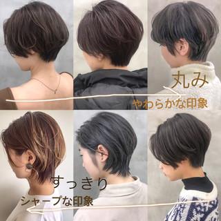 マッシュ マッシュショート ナチュラル ショート ヘアスタイルや髪型の写真・画像