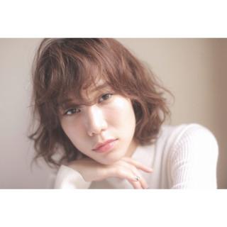 外国人風 ボブ ゆるふわ 簡単 ヘアスタイルや髪型の写真・画像