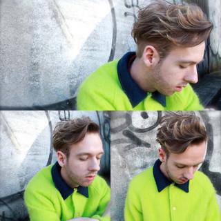 アッシュ モード ショート 外国人風 ヘアスタイルや髪型の写真・画像