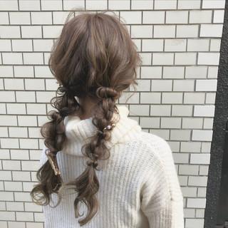 ヘアアレンジ ロング デート ツインテール ヘアスタイルや髪型の写真・画像 ヘアスタイルや髪型の写真・画像