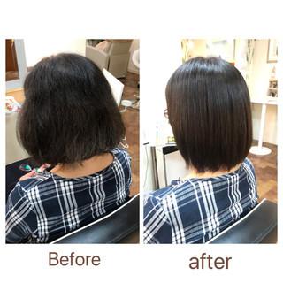 ストレート 縮毛矯正 ナチュラル ツヤ髪 ヘアスタイルや髪型の写真・画像