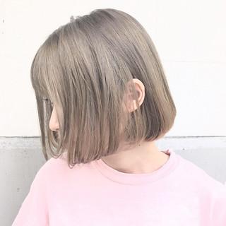 デート ボブ 透明感 ナチュラル ヘアスタイルや髪型の写真・画像