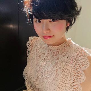 アッシュ パーマ ショート グレー ヘアスタイルや髪型の写真・画像 ヘアスタイルや髪型の写真・画像