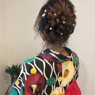 浴衣ヘア アップ フェミニン アップスタイル ヘアスタイルや髪型の写真・画像