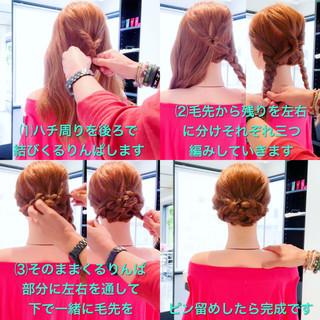ロング フェミニン オフィス ヘアアレンジ ヘアスタイルや髪型の写真・画像