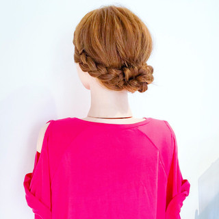 簡単ヘアアレンジ 結婚式 デート フェミニン ヘアスタイルや髪型の写真・画像 ヘアスタイルや髪型の写真・画像