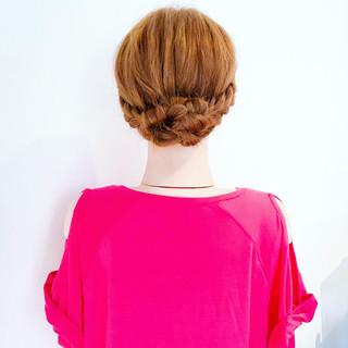 簡単ヘアアレンジ 結婚式 デート フェミニン ヘアスタイルや髪型の写真・画像