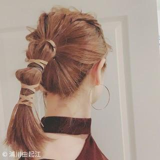 ゆるふわ ハイライト モテ髪 ストリート ヘアスタイルや髪型の写真・画像