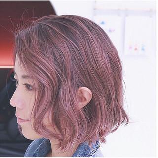 グラデーションカラー 大人かわいい ボブ 外国人風 ヘアスタイルや髪型の写真・画像