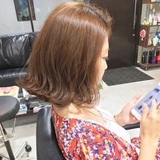 ボブ ヘアアレンジ 簡単ヘアアレンジ フェミニン ヘアスタイルや髪型の写真・画像