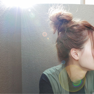 夏 ショート ナチュラル セミロング ヘアスタイルや髪型の写真・画像