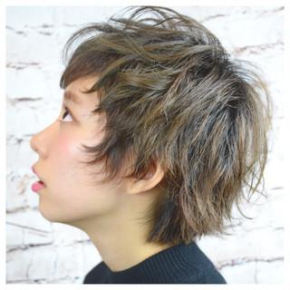 ストリート 外ハネ ベリーショート ショート ヘアスタイルや髪型の写真・画像