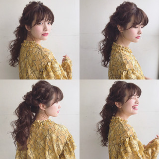 簡単ヘアアレンジ アンニュイ ロング デート ヘアスタイルや髪型の写真・画像