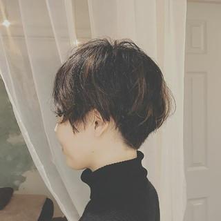 大人かわいい 黒髪 モード 冬 ヘアスタイルや髪型の写真・画像