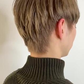 メンズマッシュ メンズカラー ショート ブリーチカラー ヘアスタイルや髪型の写真・画像