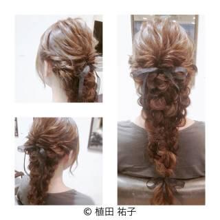 結婚式 フェミニン コンサバ 二次会 ヘアスタイルや髪型の写真・画像