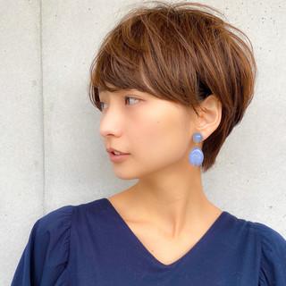 ショートボブ ミニボブ ショート 透明感カラー ヘアスタイルや髪型の写真・画像